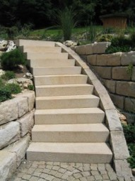 Stufenplatten aus Granit Aureo Gold